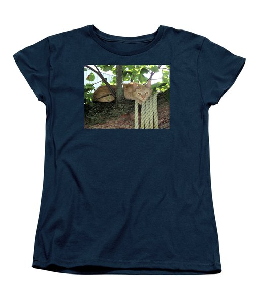 Women's T-Shirt (Standard Cut) featuring the photograph Catnap Time by Thomas Woolworth