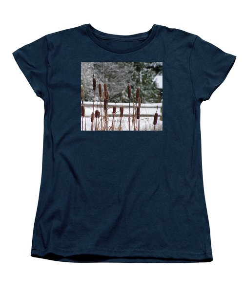 Cattails In Winter Women's T-Shirt (Standard Cut)