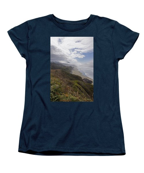 Central Oregon Coast Vista Women's T-Shirt (Standard Cut) by Mick Anderson