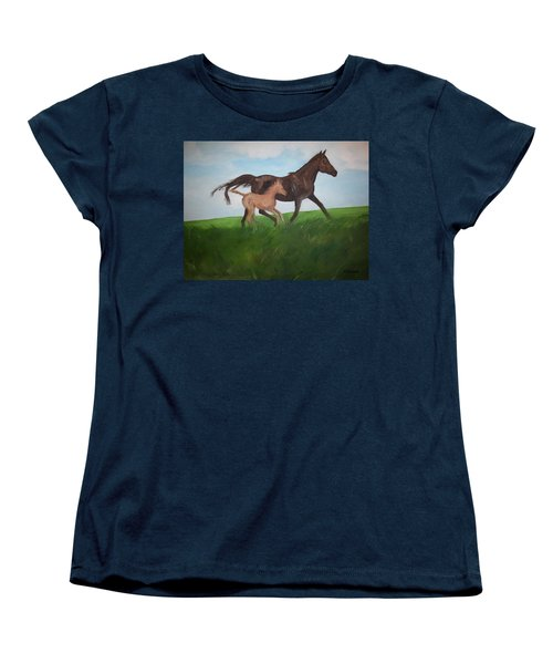 Women's T-Shirt (Standard Cut) featuring the painting Chloe's Dream by George Pedro