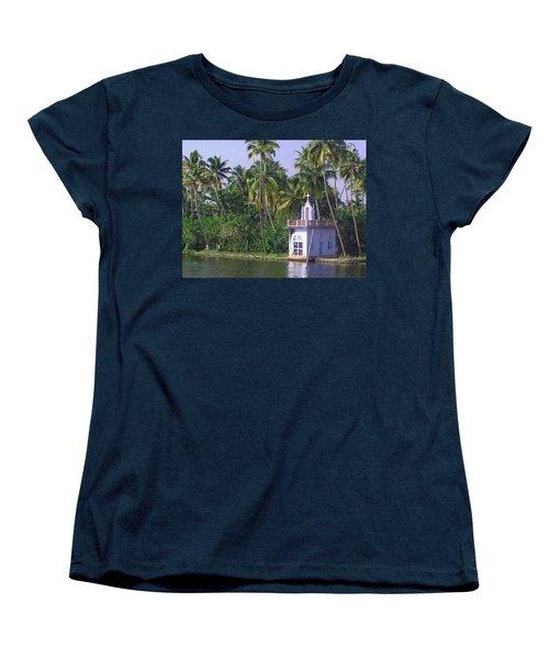 Church Located On A Coastal Lagoon In Kerala In India Women's T-Shirt (Standard Cut) by Ashish Agarwal