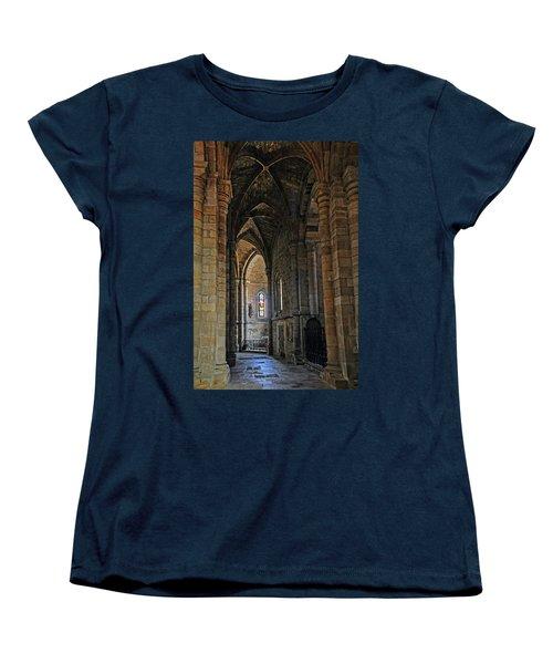 Women's T-Shirt (Standard Cut) featuring the photograph Church Passageway Provence France by Dave Mills