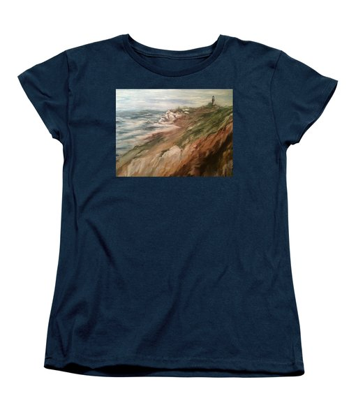 Cliff Side - Newport Women's T-Shirt (Standard Cut) by Karen  Ferrand Carroll