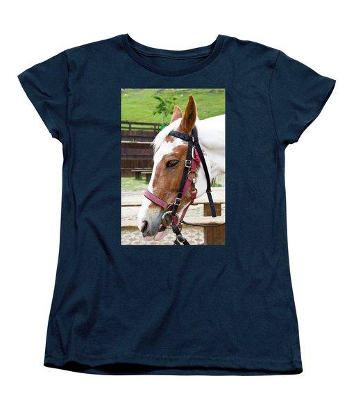 Women's T-Shirt (Standard Cut) featuring the photograph Closeup Of Horse by Yew Kwang