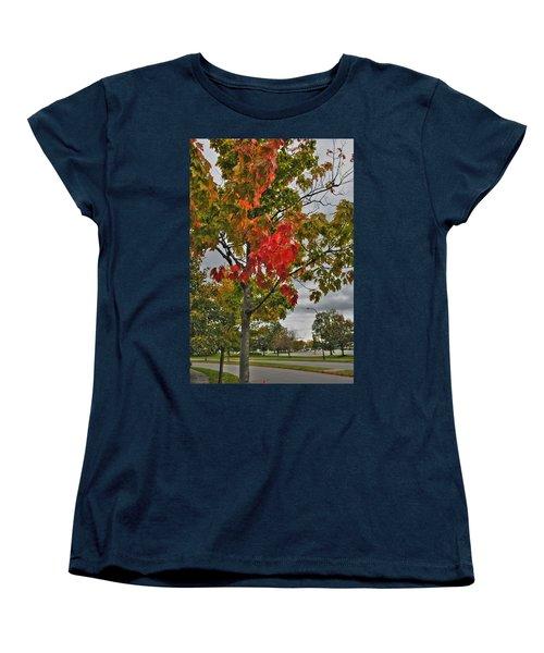 Women's T-Shirt (Standard Cut) featuring the photograph Cold Autumn Breeze  by Michael Frank Jr