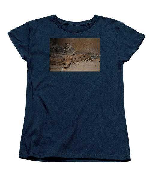 Women's T-Shirt (Standard Cut) featuring the photograph Color Of Steel 1 by Fran Riley