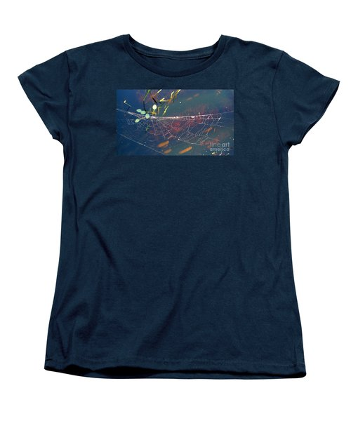 Women's T-Shirt (Standard Cut) featuring the photograph Complexity Of The Web by Nina Prommer