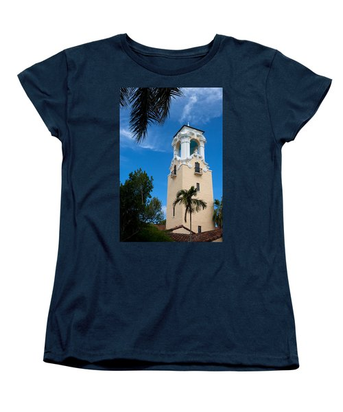 Women's T-Shirt (Standard Cut) featuring the photograph Congregational Church Of Coral Gables by Ed Gleichman