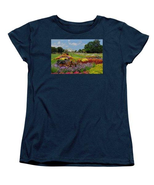 Women's T-Shirt (Standard Cut) featuring the photograph Conservatory Gardens by Lynn Bauer