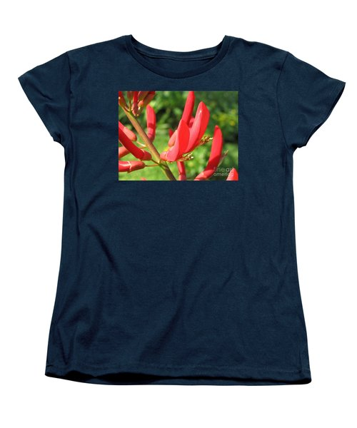 Coral Bean Tree Women's T-Shirt (Standard Cut) by Mark Robbins