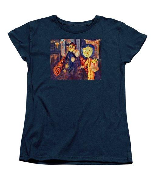Women's T-Shirt (Standard Cut) featuring the painting Coraline Circus by Joe Misrasi