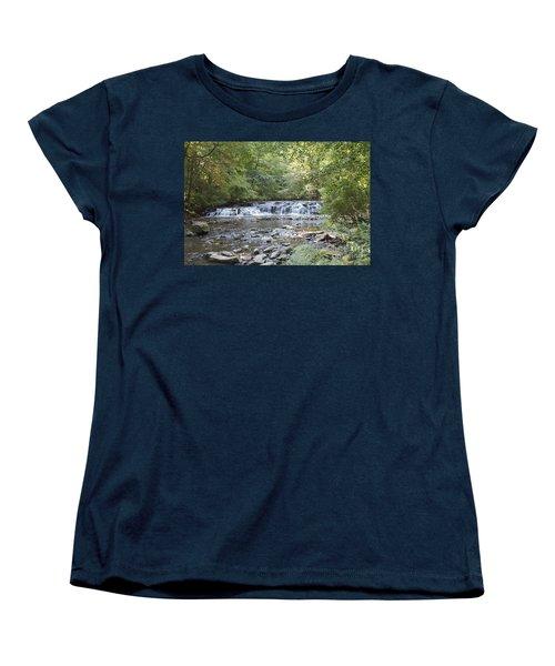 Women's T-Shirt (Standard Cut) featuring the photograph Corbetts Glen Waterfall by William Norton