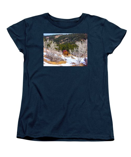 Women's T-Shirt (Standard Cut) featuring the photograph Country Barn by Shannon Harrington