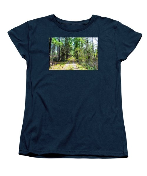 Women's T-Shirt (Standard Cut) featuring the photograph Country Path by Shannon Harrington