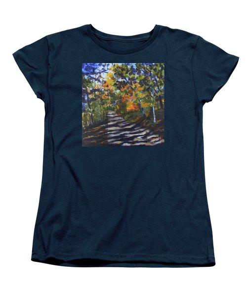 Country Road Women's T-Shirt (Standard Cut) by Jan Bennicoff