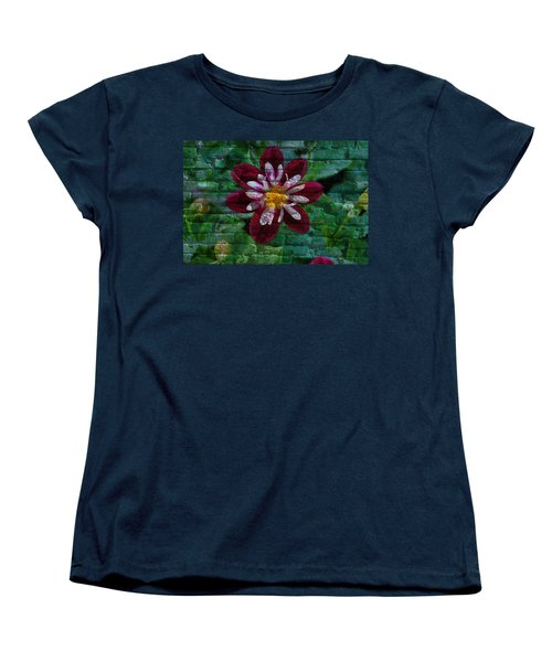 Crazy Flower Over Brick Women's T-Shirt (Standard Cut) by Eric Liller