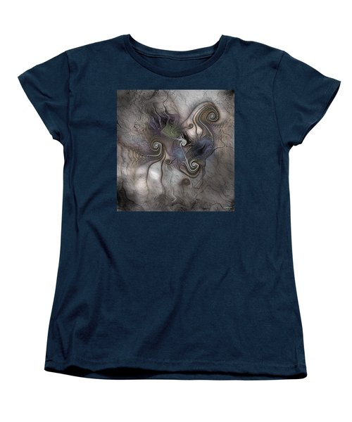 Women's T-Shirt (Standard Cut) featuring the digital art Creatively Calcified by Casey Kotas