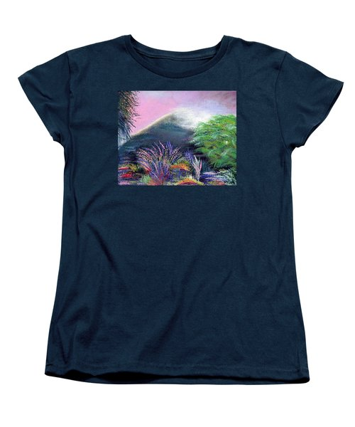 Women's T-Shirt (Standard Cut) featuring the painting Croagh Patrick by Alys Caviness-Gober