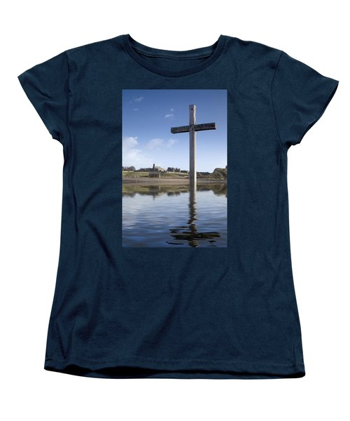 Women's T-Shirt (Standard Cut) featuring the photograph Cross In Water, Bewick, England by John Short