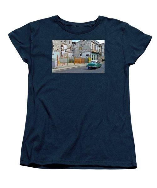 Women's T-Shirt (Standard Cut) featuring the photograph Cuba Vintage American Car  by Lynn Bolt