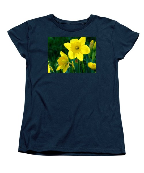 Women's T-Shirt (Standard Cut) featuring the photograph Daffodils by Sherman Perry