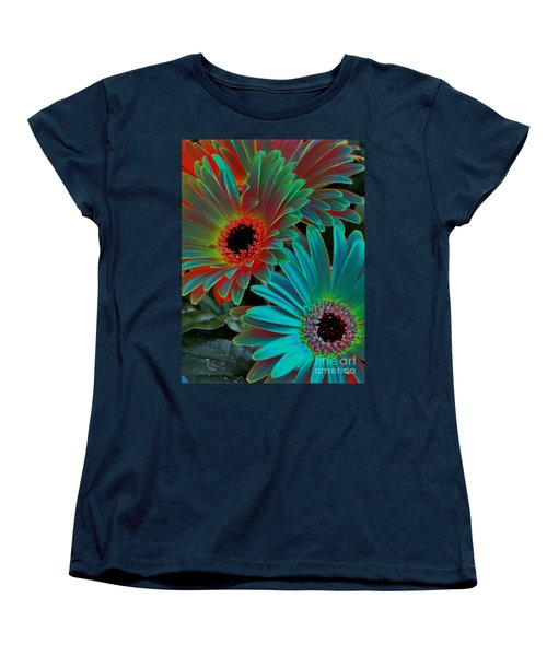 Daisies From Another Dimension Women's T-Shirt (Standard Cut) by Rory Sagner