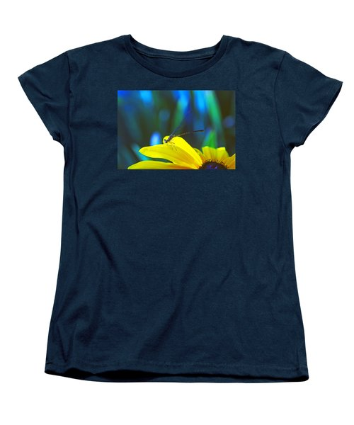 Daisy And Dragonfly Women's T-Shirt (Standard Cut) by Kay Lovingood