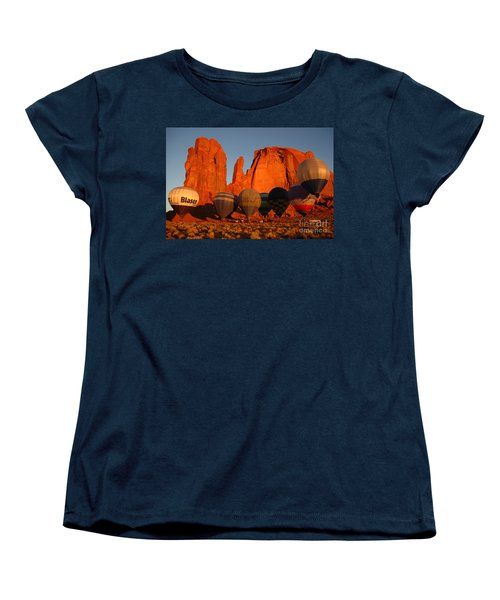 Women's T-Shirt (Standard Cut) featuring the photograph Dawn Flight In Monument Valley by Vivian Christopher