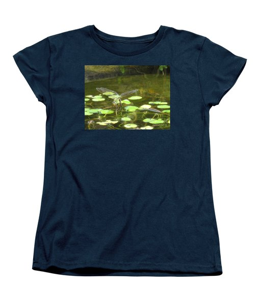 Women's T-Shirt (Standard Cut) featuring the photograph Dragonfly by Laurianna Taylor
