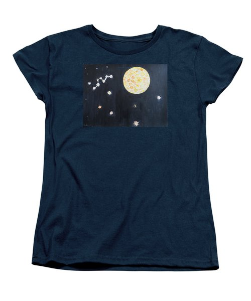 Women's T-Shirt (Standard Cut) featuring the painting Dream by Sonali Gangane