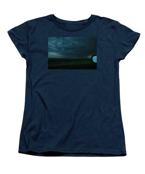 Women's T-Shirt (Standard Cut) featuring the photograph Driving Rain Number Two by Lon Casler Bixby