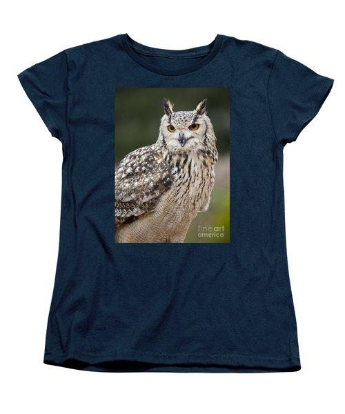 Eagle Owl II Women's T-Shirt (Standard Cut) by Chris Dutton