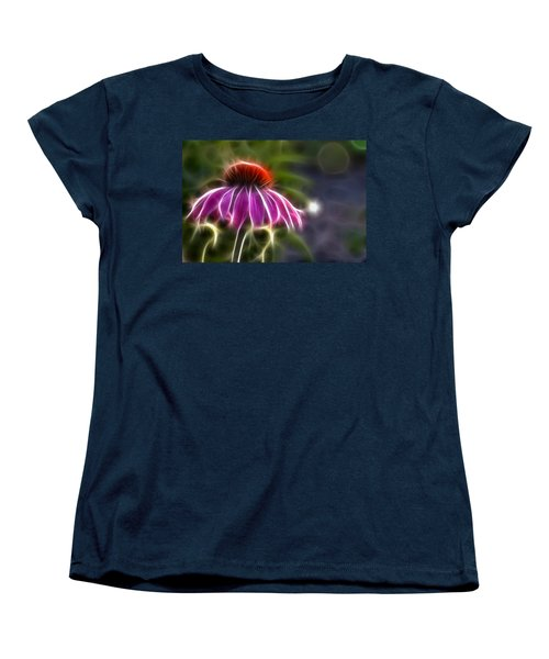 Women's T-Shirt (Standard Cut) featuring the photograph Electrified Coneflower by Lynne Jenkins