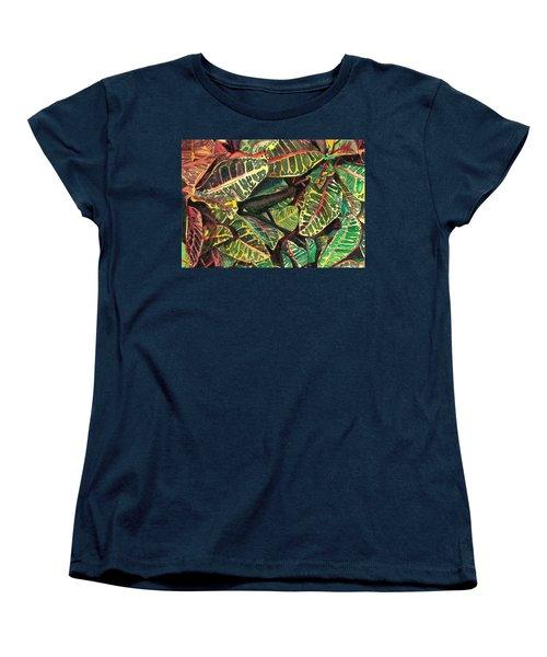 Elena's Crotons Women's T-Shirt (Standard Cut) by Marionette Taboniar