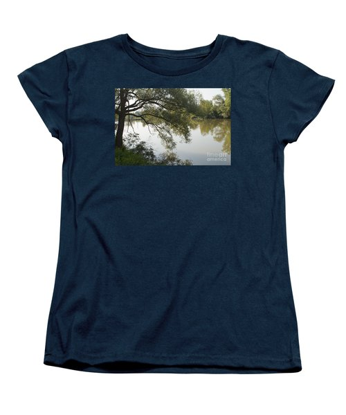 Women's T-Shirt (Standard Cut) featuring the photograph Erie Canal Turning Basin by William Norton