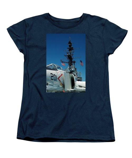 F4-phantom On The Deck Women's T-Shirt (Standard Cut) by Micah May