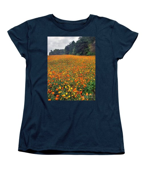 Women's T-Shirt (Standard Cut) featuring the photograph Fall Flowers by Janice Spivey