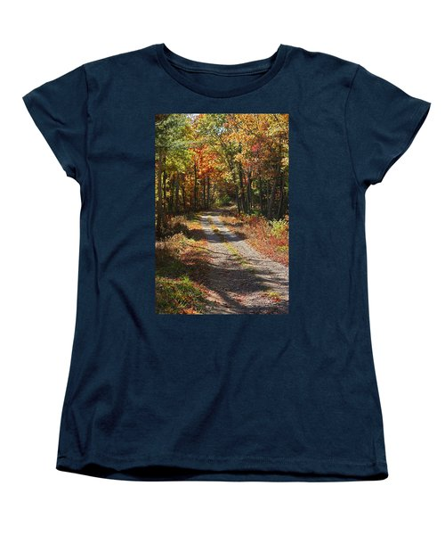 Fall On The Wyrick Trail Women's T-Shirt (Standard Cut) by Denise Romano