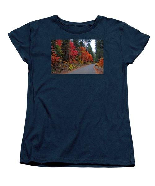 Women's T-Shirt (Standard Cut) featuring the photograph Fall's Splendor by Lynn Bauer
