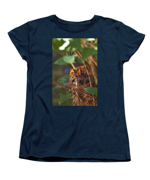 Feeding Time Women's T-Shirt (Standard Cut) by Joann Vitali