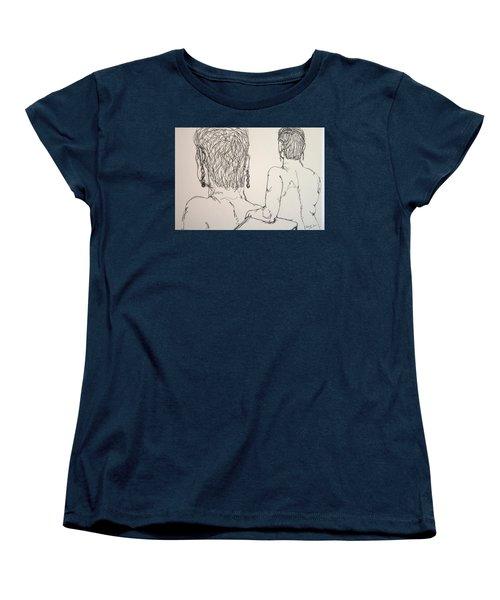 Female Nude Beside Herself Women's T-Shirt (Standard Cut) by Rand Swift