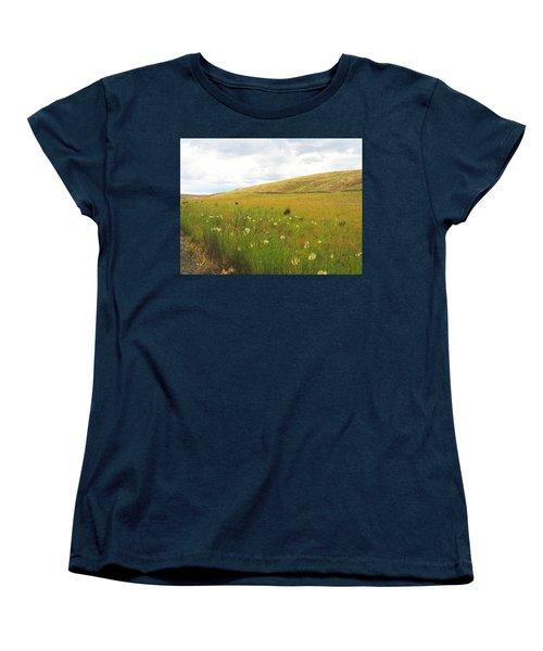 Field Of Dandelions Women's T-Shirt (Standard Cut) by Anne Mott