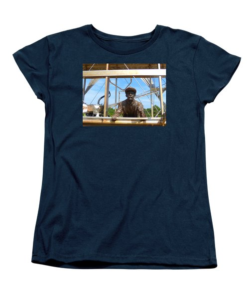 Women's T-Shirt (Standard Cut) featuring the sculpture First In Flight  by Lydia Holly