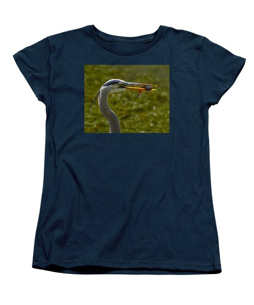 Fishing For A Living Women's T-Shirt (Standard Cut) by Tony Beck