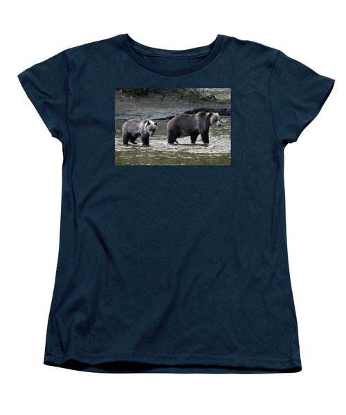 Women's T-Shirt (Standard Cut) featuring the photograph Fishing Lessons by Cathie Douglas