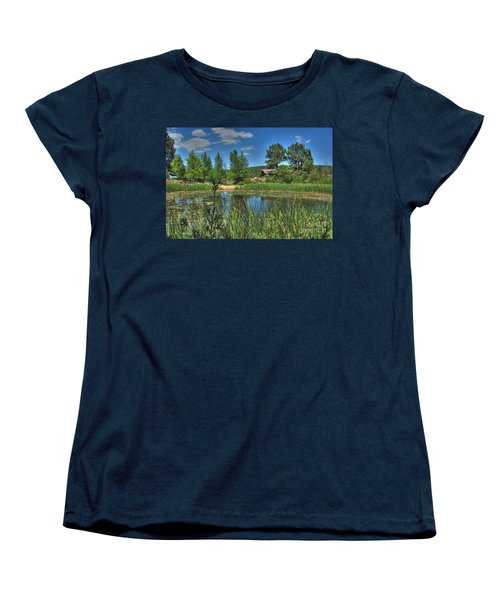 Women's T-Shirt (Standard Cut) featuring the photograph Flagstaff by Tam Ryan