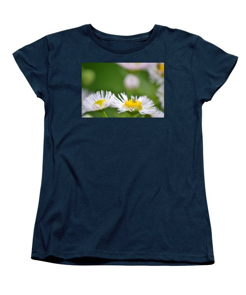 Women's T-Shirt (Standard Cut) featuring the photograph Floral Launch-pad by JD Grimes