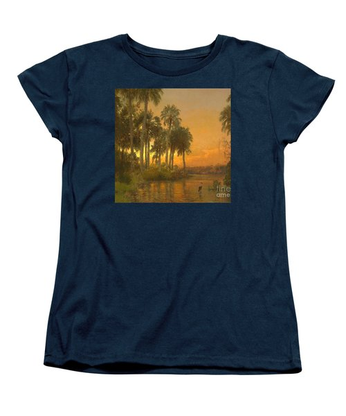 Florida Sunset Women's T-Shirt (Standard Cut) by Pg Reproductions