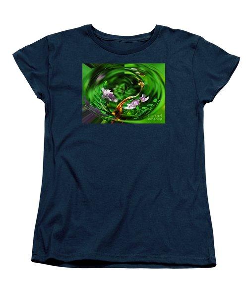 Flowers Gone Wild Women's T-Shirt (Standard Cut) by Cindy Manero
