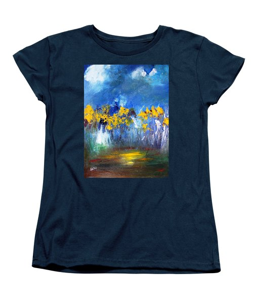 Flowers Of Maze In Blue Women's T-Shirt (Standard Cut) by Gary Smith